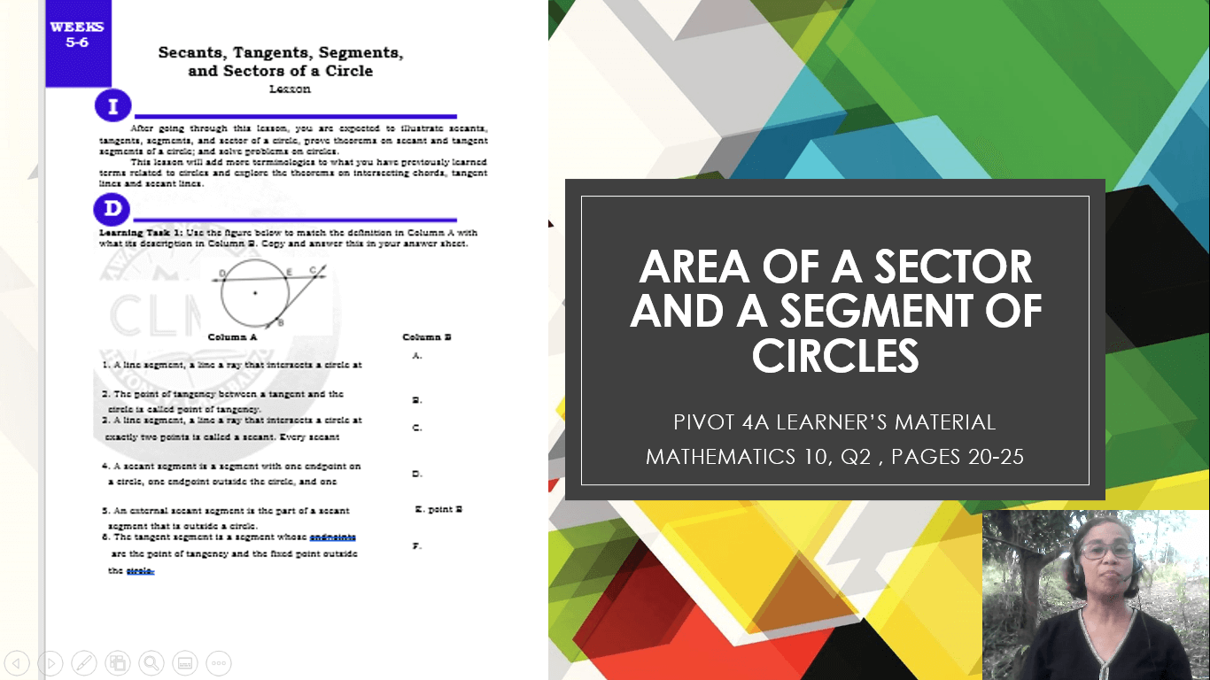 Area of a Circle Sector and Segment